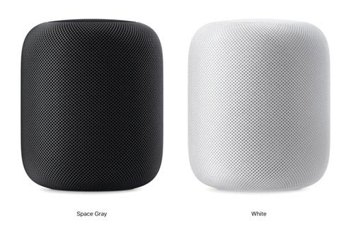 Apple HomePod в сером и белом цвете